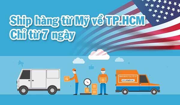 Ship hàng Mỹ về TPHCM