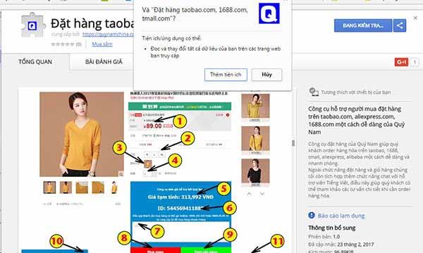 App đặt hàng Taobao