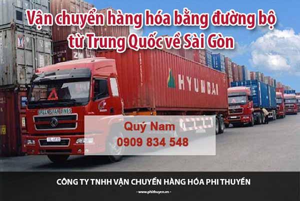 Vận chuyển hàng Trung Quốc về TPHCM