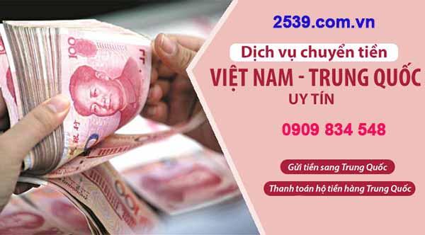 Dịch vụ chuyển tiền từ Việt Nam sang Trung Quốc
