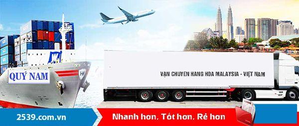 Vận chuyển hàng Malaysia về Việt Nam