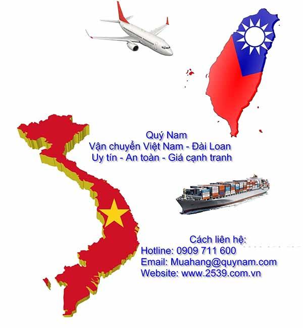 Nhận gửi hàng đi Đài Loan