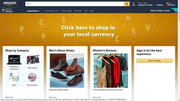 Tìm sản phẩm trên Amazon