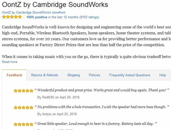Kiểm tra độ tin cậy của shop trên Amazon