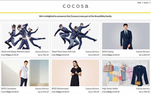 Web hàng hiệu Cocosa Sales