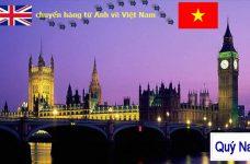 Gửi hàng từ Anh về Việt Nam mất bao lâu?