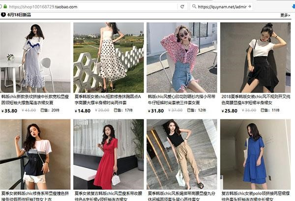 Shop quần áo uy tín trên Taobao