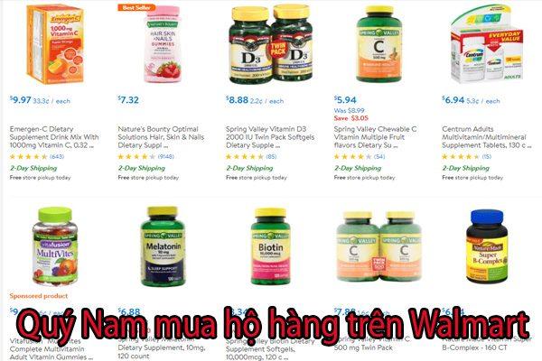 Quý Nam nhận mua hộ hàng Walmart, ship về Việt Nam nhanh chóng