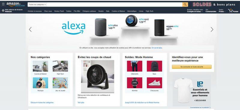 Amazon Pháp có rất nhiều mặt hàng để bạn lựa chọn