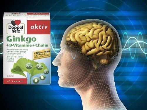 Viên uống bổ não được chiết xuất từ cây Bạch quả, Vitamin B và Cholin