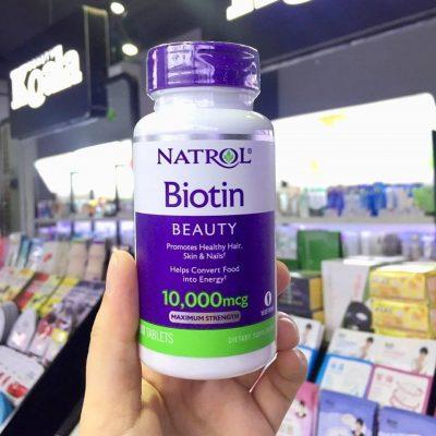 Natrol Biotin Beauty là sản phẩm thuốc mọc tóc Mỹ có công dụng chỉ sau liệu trình 1 tháng