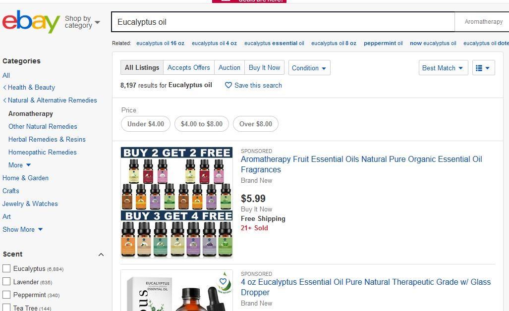 Ebay cũng là địa chỉ đặt hàng uy tín, chất lượng