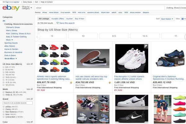 Amazon và Ebay là địa chỉ order giày Nike chính hãng giá rẻ