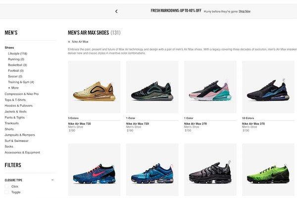 Web thương mại - nguồn giày Nike hiệu quả cho chủ kinh doanh
