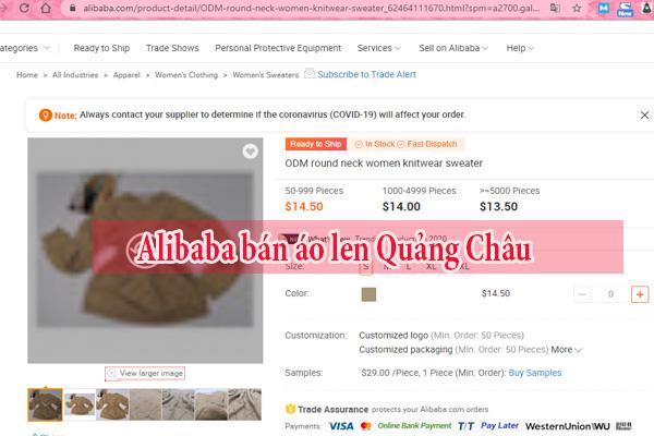 Alibaba- cung cấp nguồn áo len Quảng Châu số lượng lớn