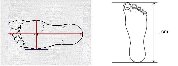 Đánh dấu các đường chạm chân