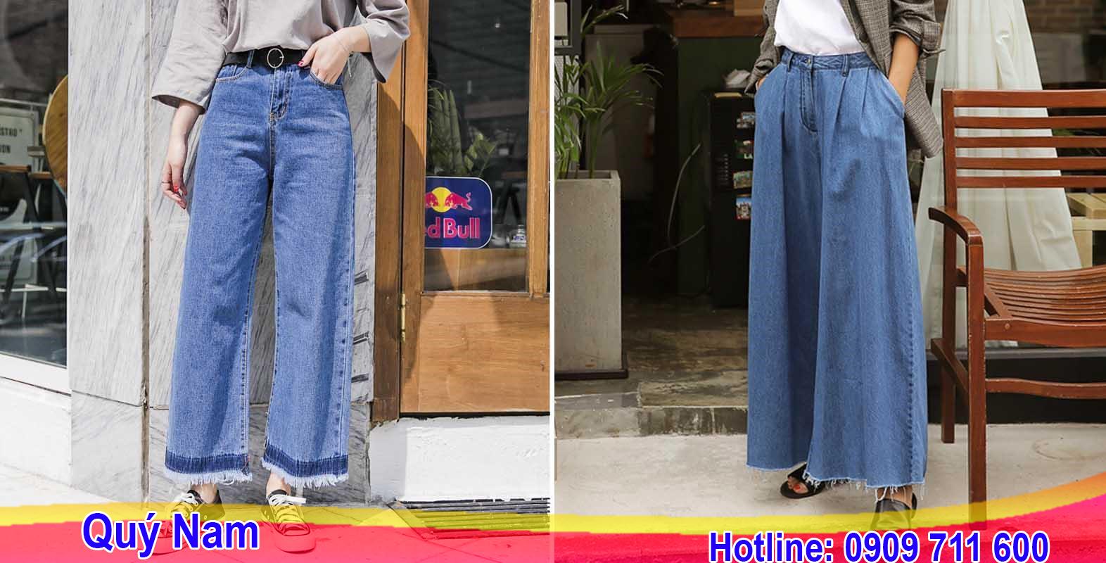 Trong hình là 2 mẫu quần jean ống rộng hot trend đang khiến giới trẻ Châu Á phát sốt