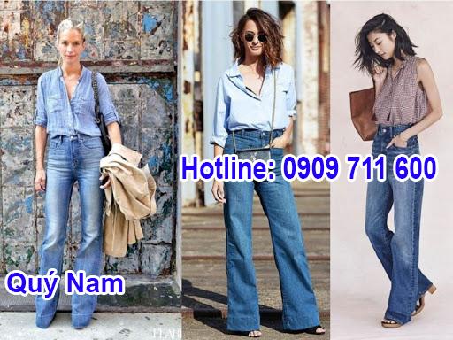 Mẫu quần jean ống rộng cạp cao này giúp ăn gian chiều cao cho người mặc