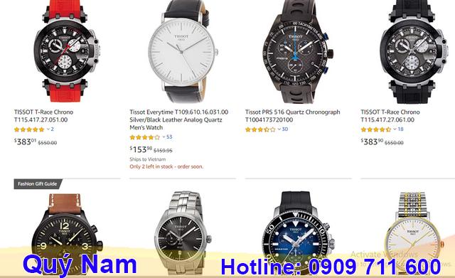 Nhập sỉ đồng hồ Tissot qua các trang thương mại online ngày càng phổ biến