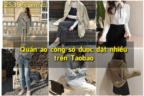 Quần áo công sở được đặt nhiều trên Taobao